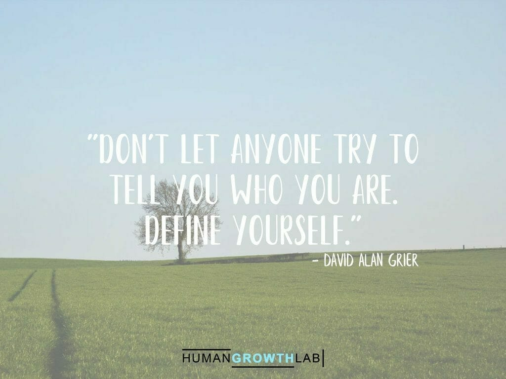 """David Alan Grier quote on defining yourself - """"Don't let anyone try to tell you who you are. Define yourself."""""""