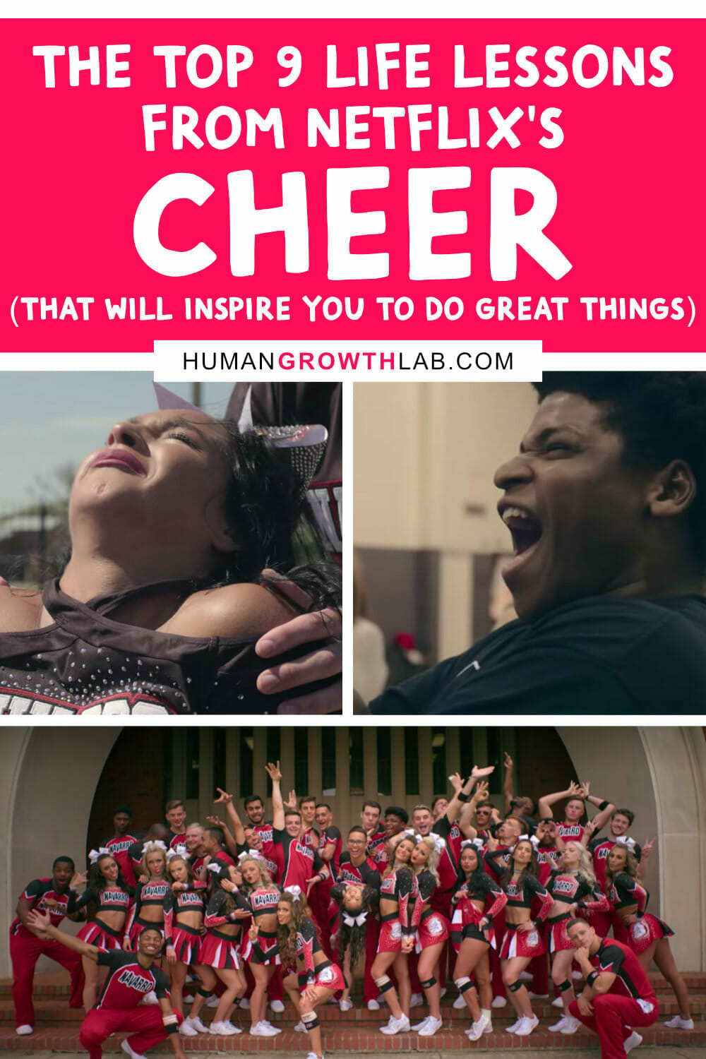 9 Amazing life lessons you can learn from Netflix's Cheer via @humangrowthlab