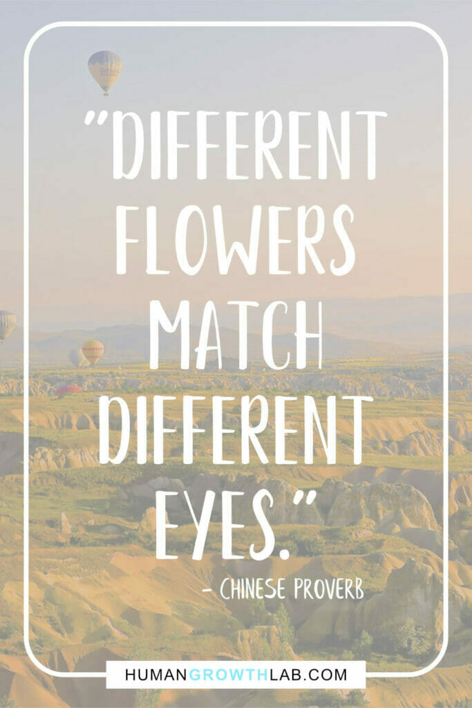 """Chinese quote about love - """"Different flowers match different eyes."""""""